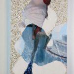 Portrait #15, mix media on paper and foam, 9″ x 7″, 2016