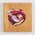 "Rypien Donut, mix media, 14"" x 14"", 2011"